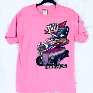 Mel's Diner cars pigeon forge short sleeve Tee